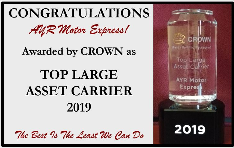 Crown's Top Large Asset Carrier 2019
